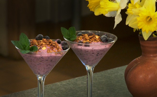 Blueberry Yogurt Smoothie Parfait | Flavor, NC