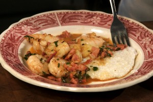 Shrimp & Grits with Redeye Gravy