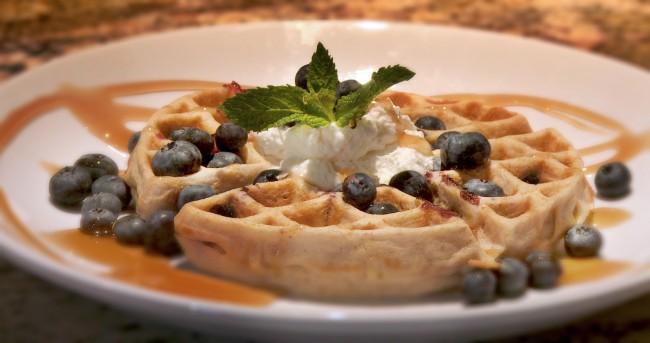 Blueberry Buttermilk Waffles   Flavor, NC