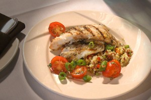 Grilled Flounder with Tomato Basil Sauce