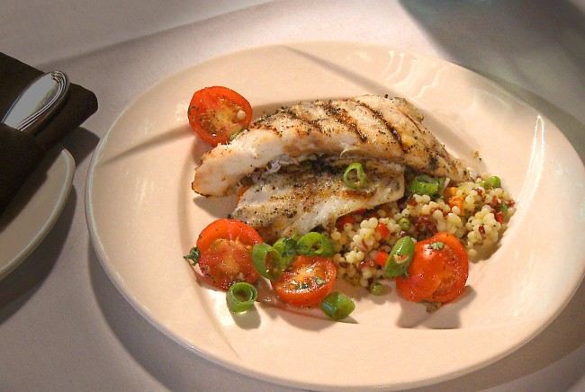 Grilled Flounder with Tomato Basil Sauce | Flavor, NC