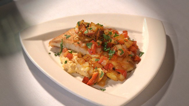 Sautéed Flounder with Old Mill Grits | Flavor, NC