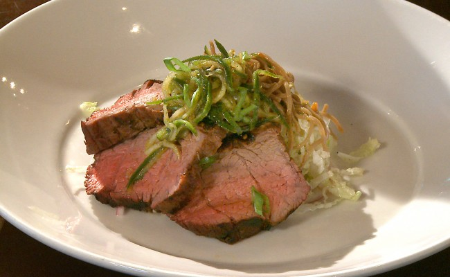steak with soba noodle salad and slaw | Flavor, NC