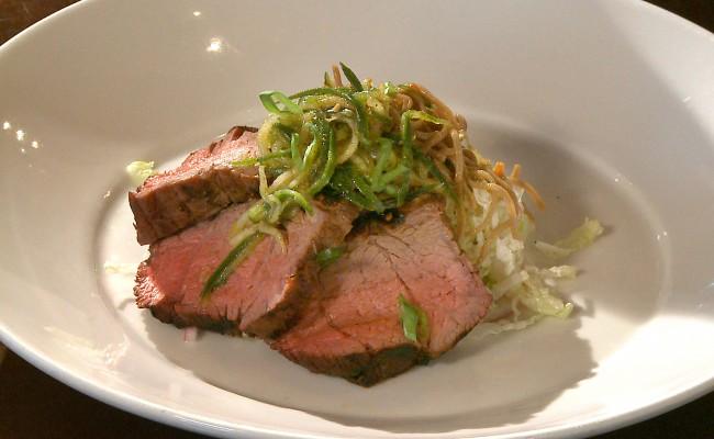 steak with soba noodle salad and slaw | Flavor, NC