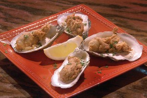 Cajun Cornmeal Crusted Fried Oysters…