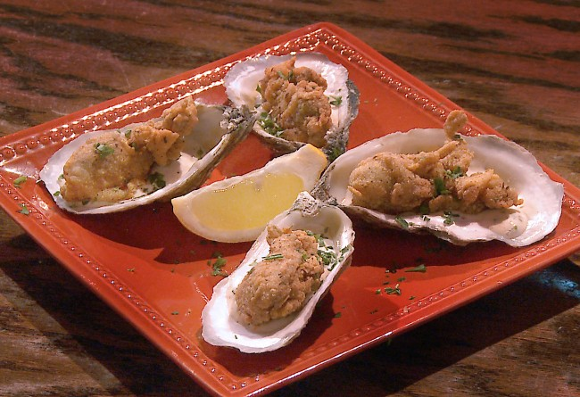 cajun cornmeal fried oysters recipe on Flavor, NC