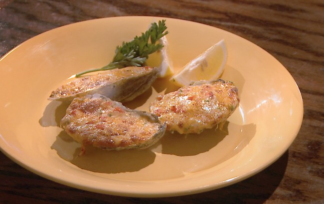 Pimiento Cheese Oysters on Flavor, NC