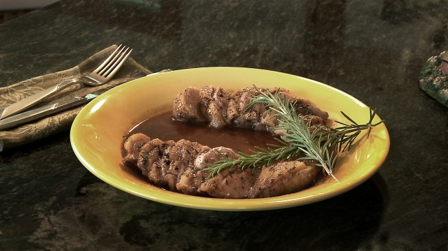 Rosemary Duck with Orange Red Wine Sauce