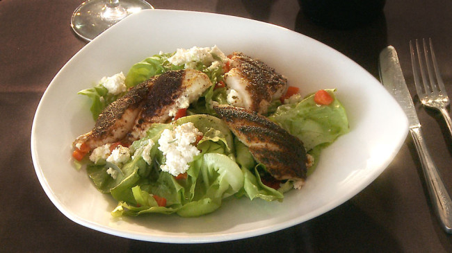 Blackened Catfish Salad | Flavor, NC