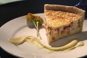 Country Ham, Roasted Tomato & Corn Quiche