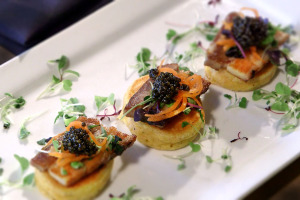 Caviar Bacon Blini