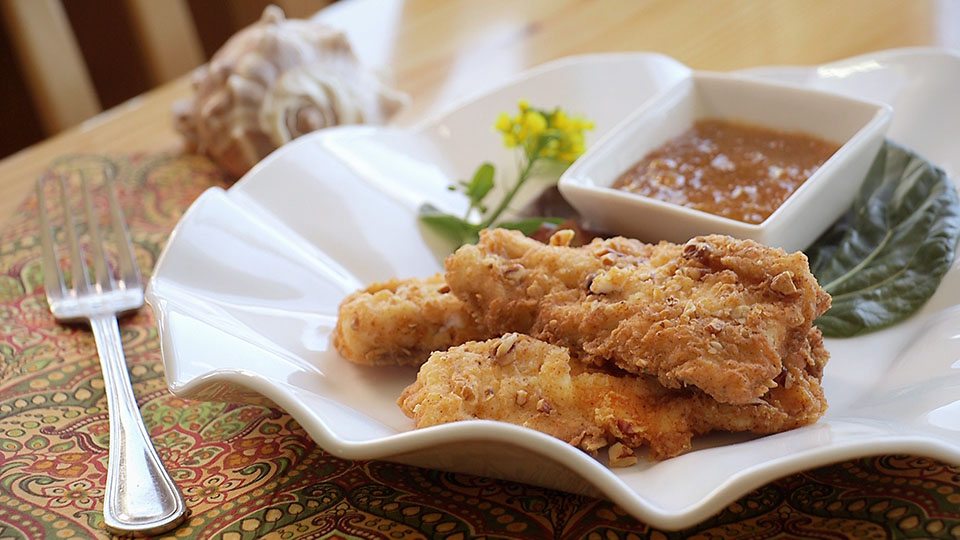 Oma Pearl's Pecan Fried Dogfish   Flavor, NC