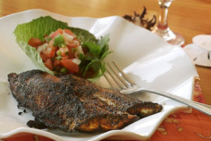 Pan Blackened Spiny Dogfish with Pico de Gallo