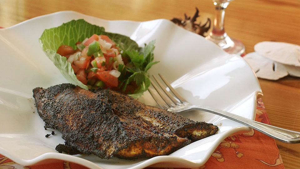 Blackened Spiny Dogfish with Pico de Gallo | Flavor, NC