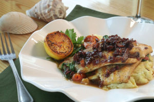 Pan Seared Spiny Dogfish