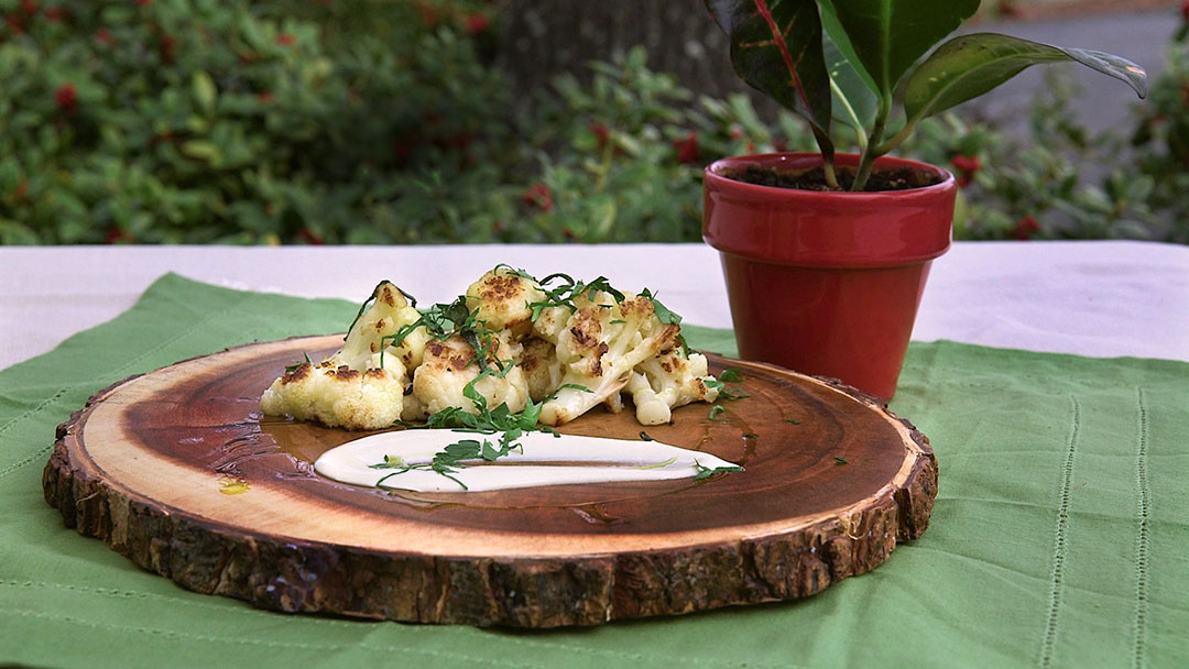 Roasted Cauliflower with Tahini & Parsley | Flavor, NC