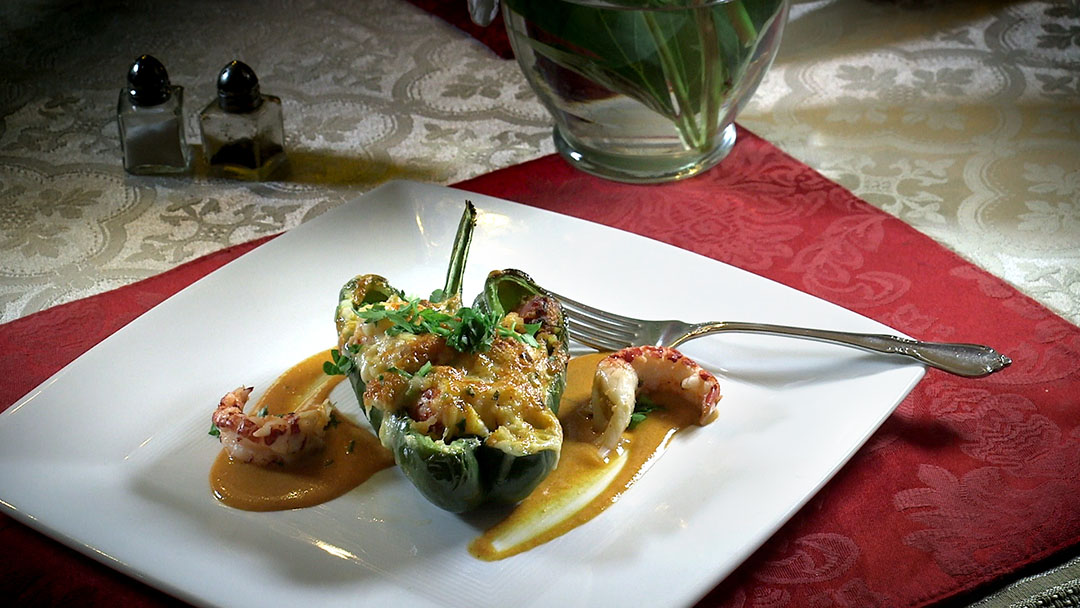 Flavor, NC | Poblano Stuffed with Crawfish Jambalaya and Ashe County Ghost Pepper Cheese
