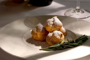 Muscadine Pastry Crème with Rosemary and Orange