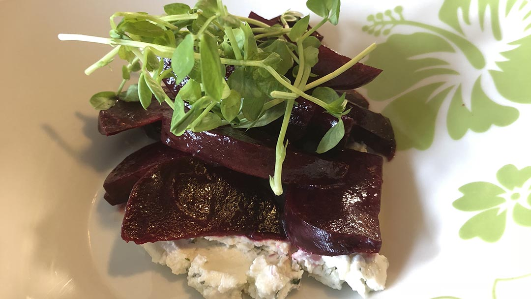 Flavor, NC | SoCo | Roasted Beet Salad with Herbed Goat Cheese and a Dijon Vinaigrette
