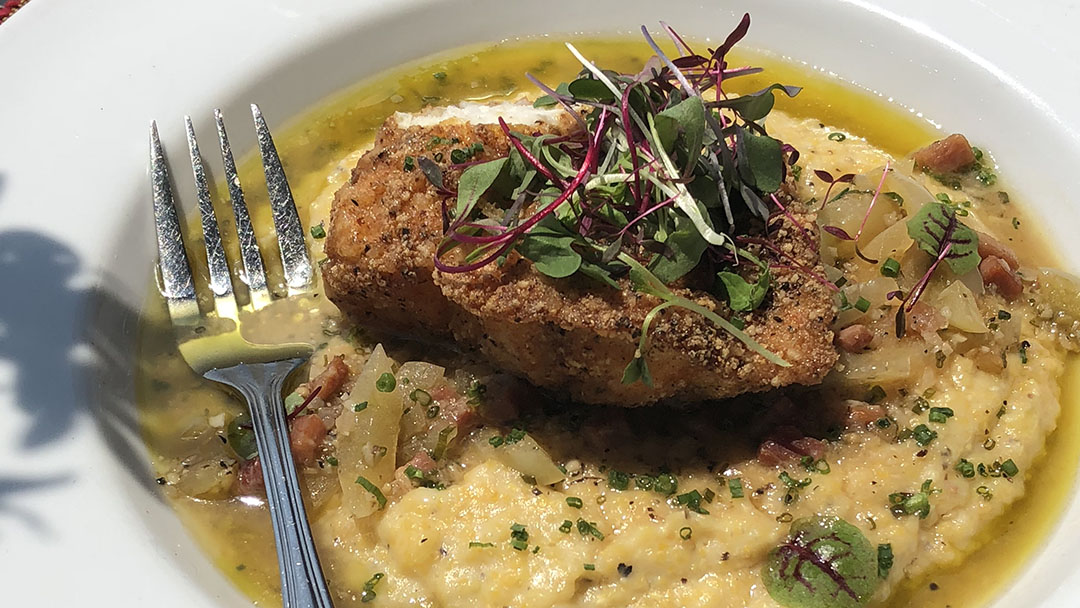 Flavor, NC | Cornmeal Crusted Grouper & Grits